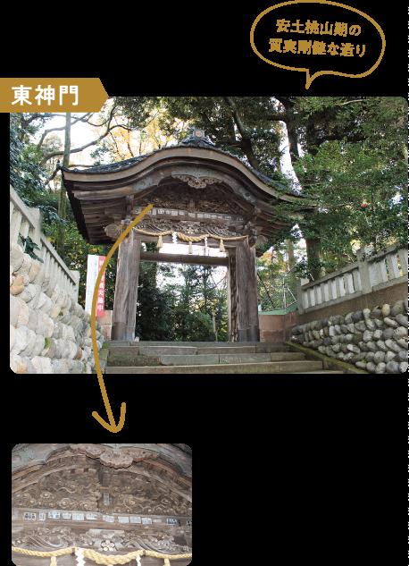 東神門|安土桃山期の質実剛健な造り